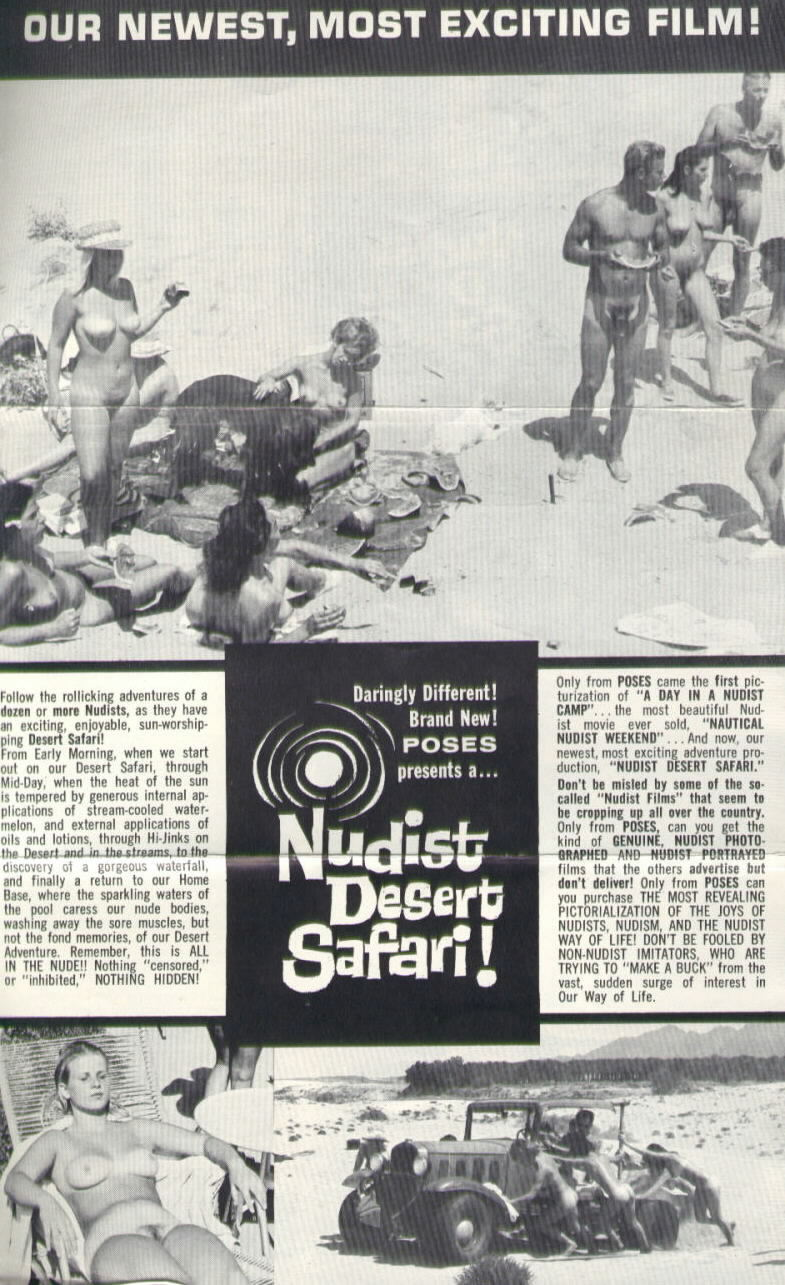NUDIST DESERT SAFARI! Fold-out flyer