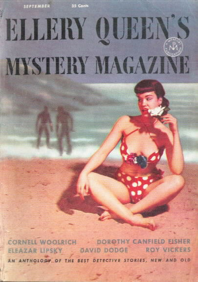 ELLERY QUEEN MYSTERY MAGAZINE September 1953 with Betty Page on cover