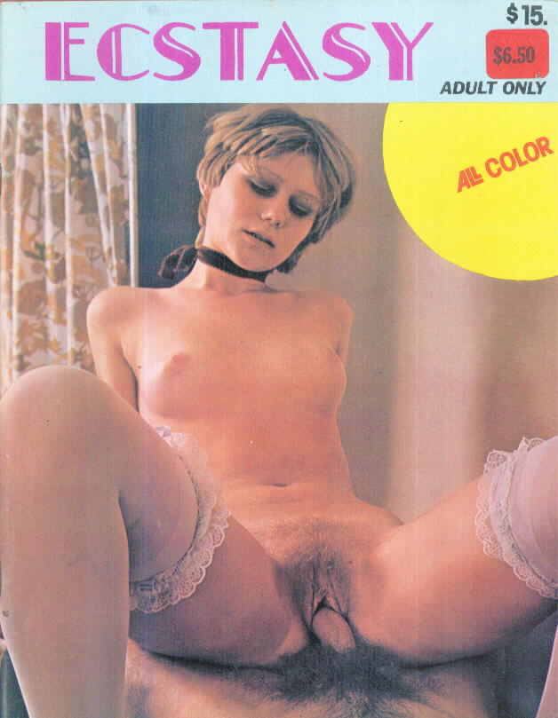 ECSTASY 1970s adult glossy photo magazine
