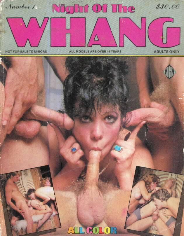 NIGHT OF THE WHANG Double thick adult glossy photo magazine