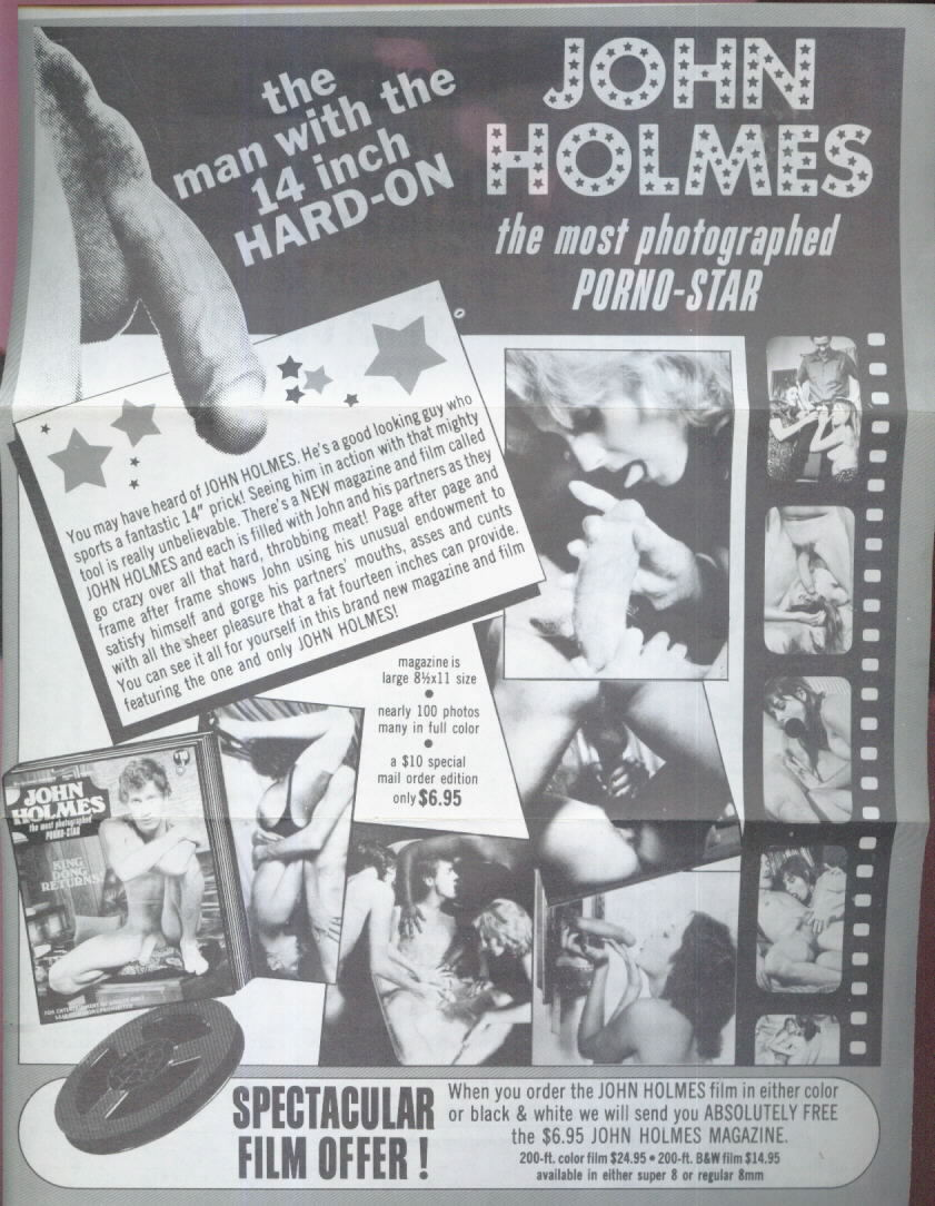 Vintage porn mag adverts John Holmes Pamphlet #1