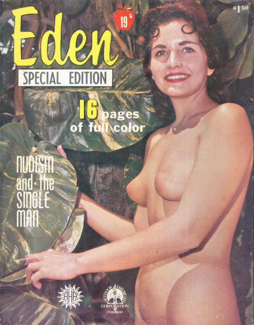 Vintage nudist magazines and books