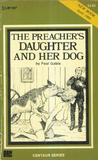 THE PREACHER'S DAUGHTER AND HER DOG by Paul Gable