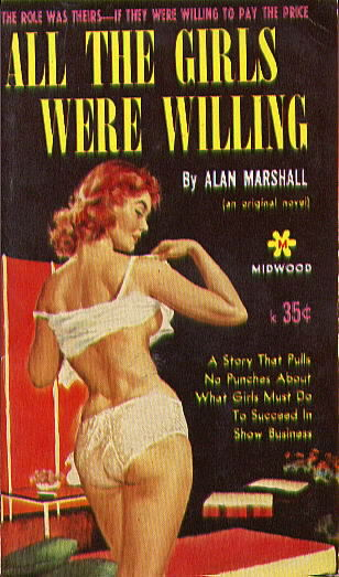 Midwood 28 ALL THE GIRLS WERE WILLING by Alan Marshall (pseudonym of Donald E. Westlake)